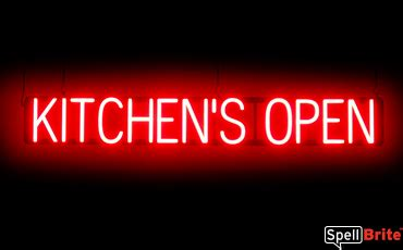 kitchens open sign spellbrite led neon