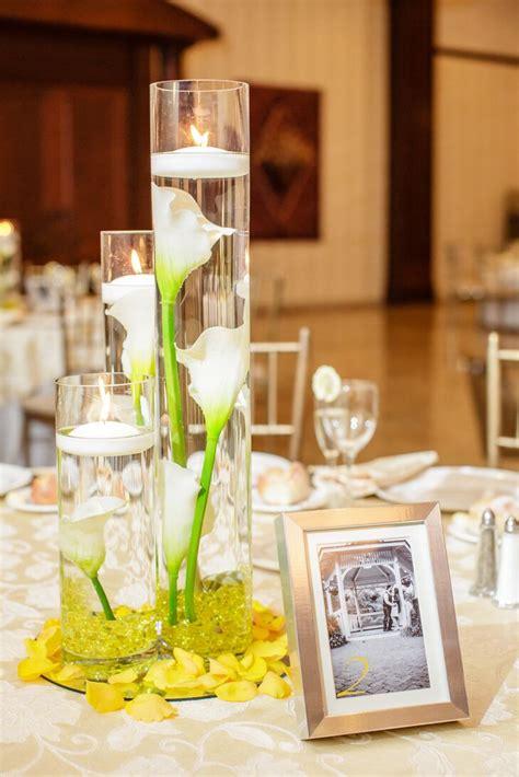modern calla lily centerpieces