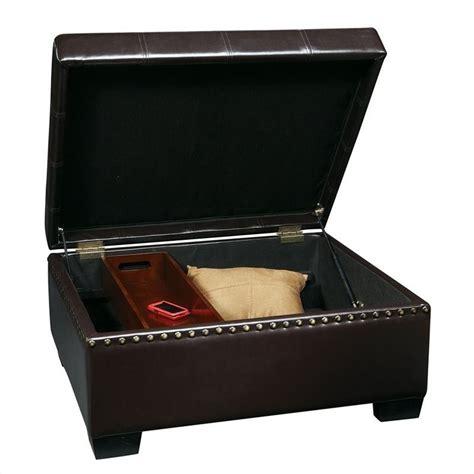 leather storage ottoman with tray storage ottoman with tray in eco leather dtr3630 ebd