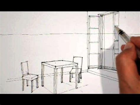 dessin de chaise en perspective dessiner en perspective int 233 rieure table chaises fen 234 tre