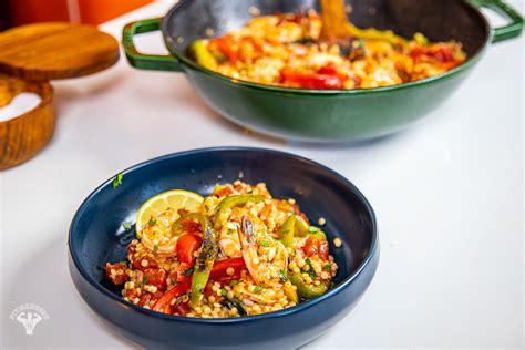 quick  pot shrimp pearl couscous mediterranean diet