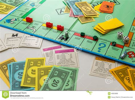Monopoly Board Game In Play Editorial Stock Photo Image