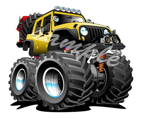 jeep cartoon offroad jeep off road 4x4 cartoon tshirt 8188 automotive art ebay