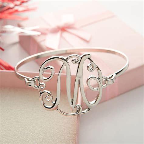 monogram initial script bracelet florence scovel