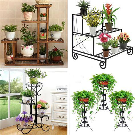 designs flower pot plant stand planter rack shelf