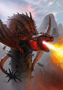 Fire breathing dragon | Fantasy | Pinterest