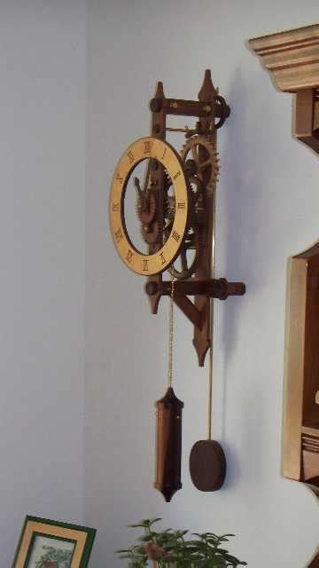 wooden gear clock finewoodworking