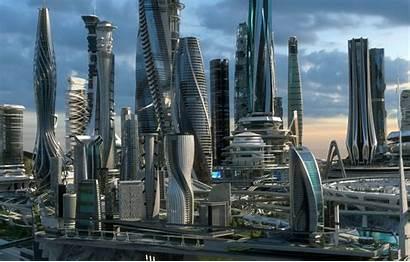 Futuristic Future Architecture Urban Usa China Town