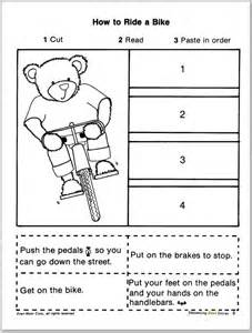 Story Sequencing Cut and Paste
