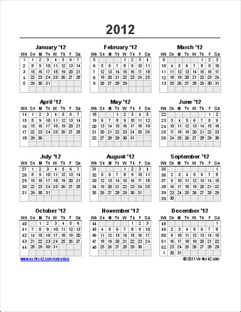 yearly calendar week calendar yearly printable