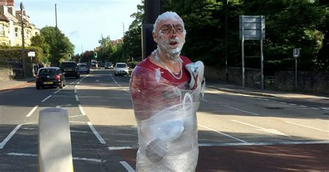 staines man clings   dignity  stag  prank