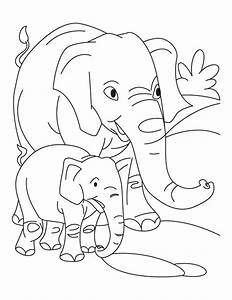 Elephant With Baby Elephant Coloring Pages Download Free Free Coloring Pages Of Animals And