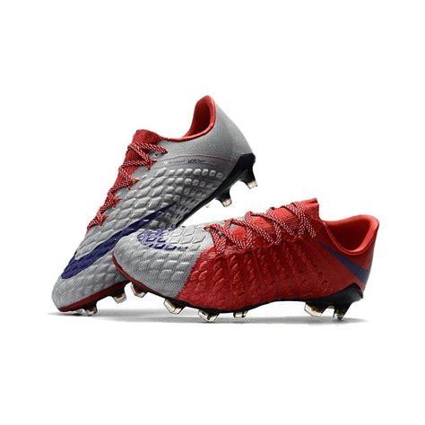 nike hypervenom phantom  fg  cut soccer cleat red grey