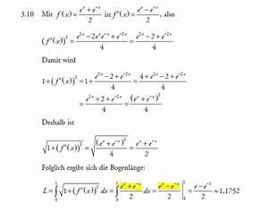 Untersumme Berechnen : bogenl nge bogenl nge berechnen von f x e x e x ~ Themetempest.com Abrechnung