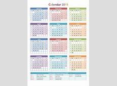 Get Free Printable Calendar 2019 Templates Printable