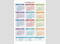 Free Printable Calendar 2019 Templates {Download} Public