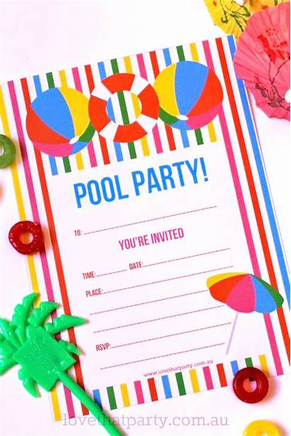 Pool Party Invitation Printable Summer Invitations Parties