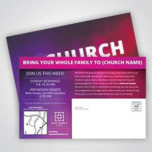 church postcards outreach church communication