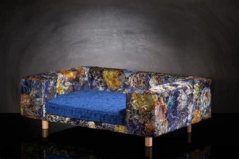 canapé taille canapé de luxe pour chien le couture palace bleu