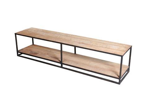tv meubel hout en ijzer kayu tv meubel ijzer en teak kayu collection gusj