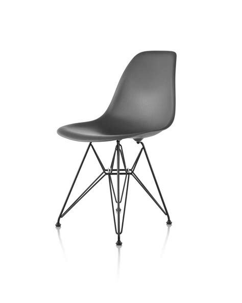 hermanmiller 174 eames 174 plastic side chair wire base the