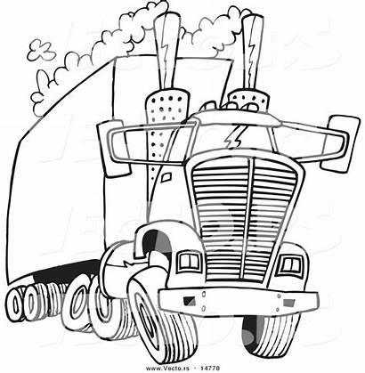Coloring Pages Semi Truck Printable Cartoon Water
