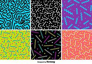 Retro Party Vector Patterns - Download Free Vector Art