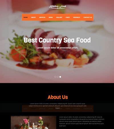latest  food restaurant website templates
