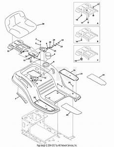 Troy Bilt 13an77kg011 Pony  2009  Parts Diagram For Seat And Fender