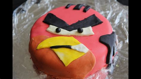 angry birds birthday cake red bird fondant cake vegan