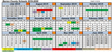 barren county schools proposed calendar survey barren