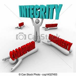 Stock Illustrations of Integrity Person Lifting Word ...