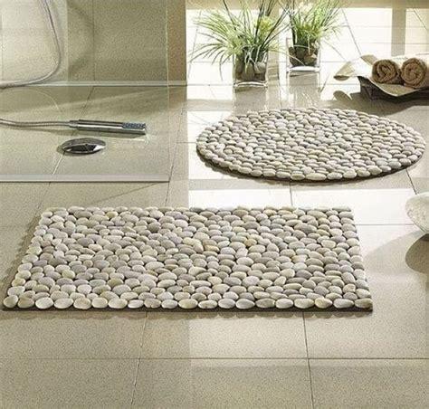 wohndeko selber machen fantastische diy fu 223 matte aus steinen basteln fu 223 matte