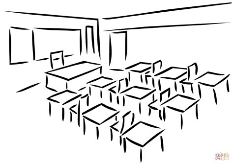Classroom Coloring Pages Classroom Coloring Page Free Printable Coloring Pages