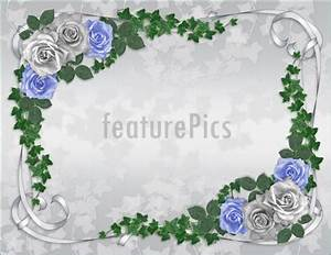 Templates wedding invitation roses blue border stock for 3d rose wedding invitations