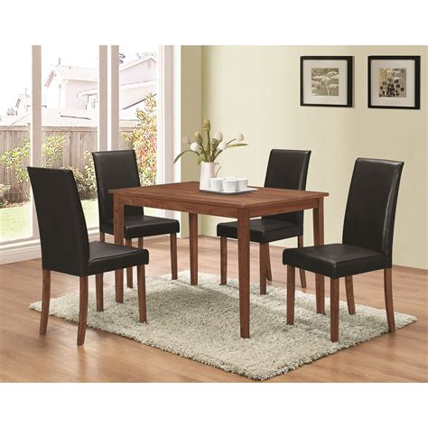 coaster dinettes 5 dining set with parsons chairs