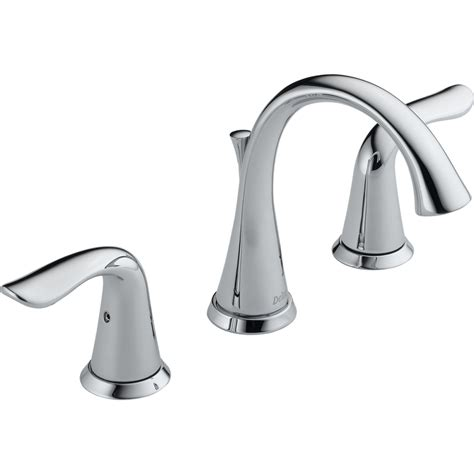 widespread bathroom sink faucet shop delta lahara chrome 2 handle widespread watersense