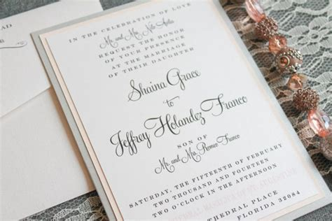 blush pink and silver diy classic formal pocket wedding