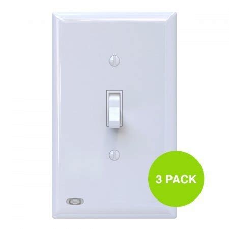 4 pack snappower guidelight outlet wall plate with led