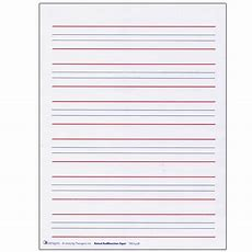 Raised Line Writing Paper  Red And Blue Lines Package Of 50  Paperbooks  Hearmorecom My