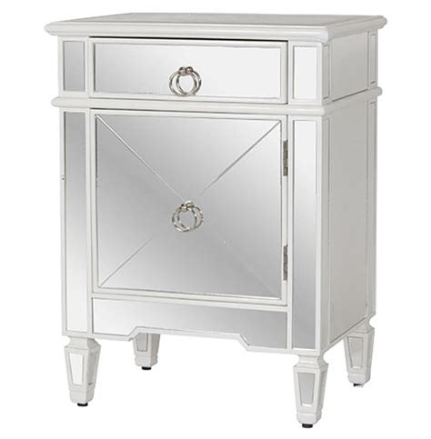 white mirrored nightstand sloane regency white lacquer mirror nightstand