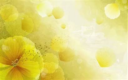 Yellow Abstract Wallpapers Desktop Backgrounds Flower Background
