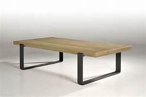 Table Basse PEP39S En Chne Et Pieds En Fer Bniste Proche