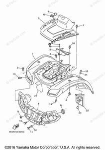 Yamaha Atv 2007 Oem Parts Diagram For Front Fender