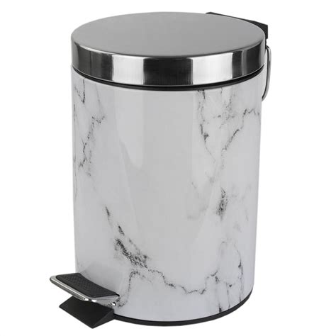 Metal Bathroom Garbage Can by Behrens 6 Gal Galvanized Steel Trash Can With