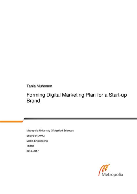 startup marketing plan examples   examples