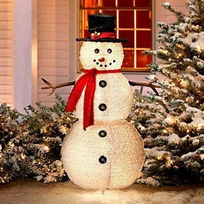 outdoor lighted snowman decorations pin by lisa slusher on love it pinterest