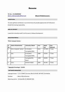Best Resume Format Pdf For Freshers Sample Job Resume