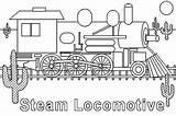 Train Coloring Steam Locomotive Colouring Engine Netart Template Tt sketch template