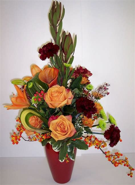 fall flower arrangements fall grandeur flower arrangement